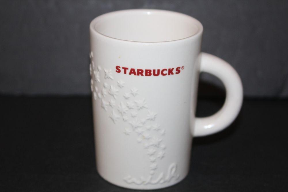 Starbucks Coffee Mug Holiday Wish White Red 3d Cup Christmas 10 Oz Tea Cup 2010 Starbucks Mugs Tea Cups Starbucks Coffee