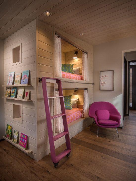 spielhaus kinderzimmer betten mit leiter relaxsessel purpur holzboden kinder pinterest. Black Bedroom Furniture Sets. Home Design Ideas