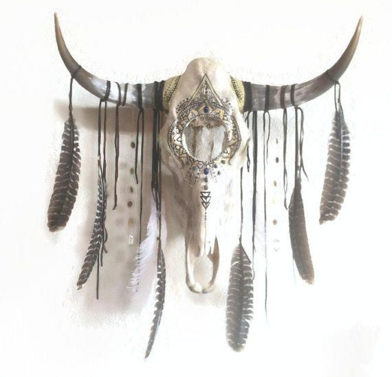 Bull Skull Wall Decor pincorrie franse on buffalo, cow, deer skulls | pinterest
