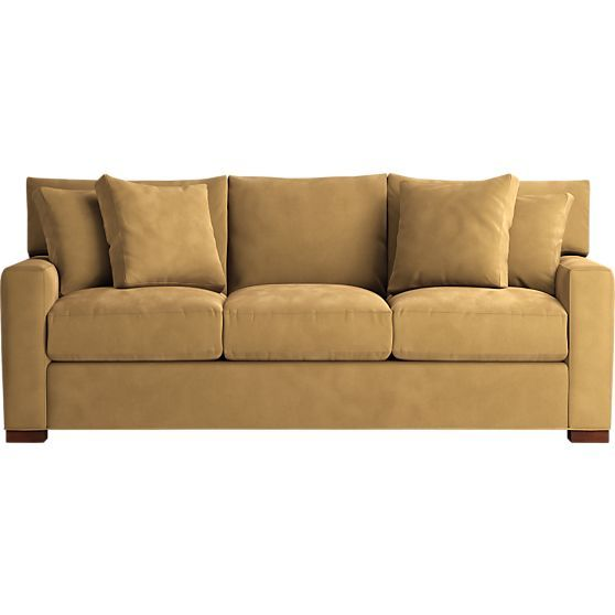 Axis 3 Seat Sofa In Sofas Crate And Barrel Peat In Another