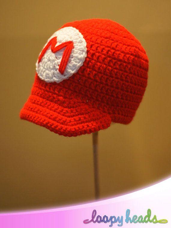 3fc1e98bcae Super Mario Bros Inspired Hats Mario Luigi or Toad by LoopyHeads ...