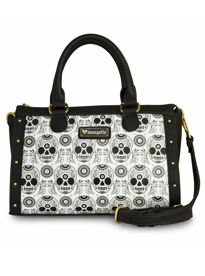 """""""Sugar Skull"""" Duffle Bag by Loungefly (Black/White)  I need this!!!"""