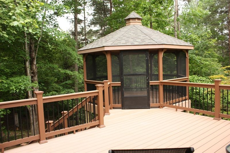 Gazebos For Decks Gazebo Deck Combination Swing O Things Inc