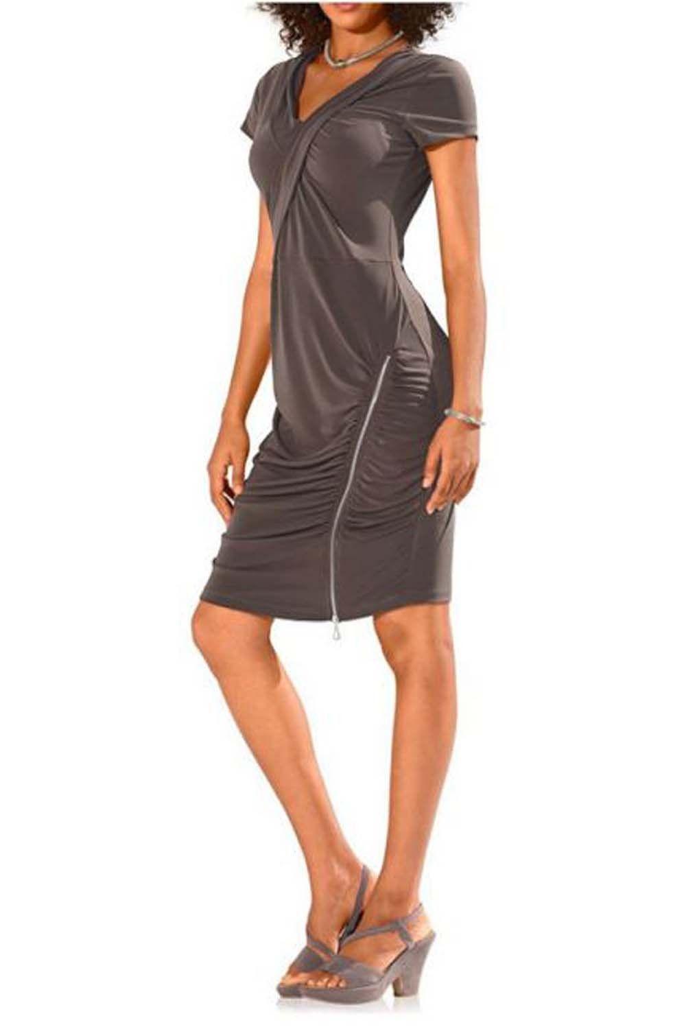 Heine Kleid taupe Neu Gr.40 in Kleidung & Accessoires, Damenmode, Kleider | eBay
