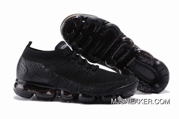 55a0d3e22a96 Nike Air VaporMax Flyknit 2 All Black Women New Year Deals ...