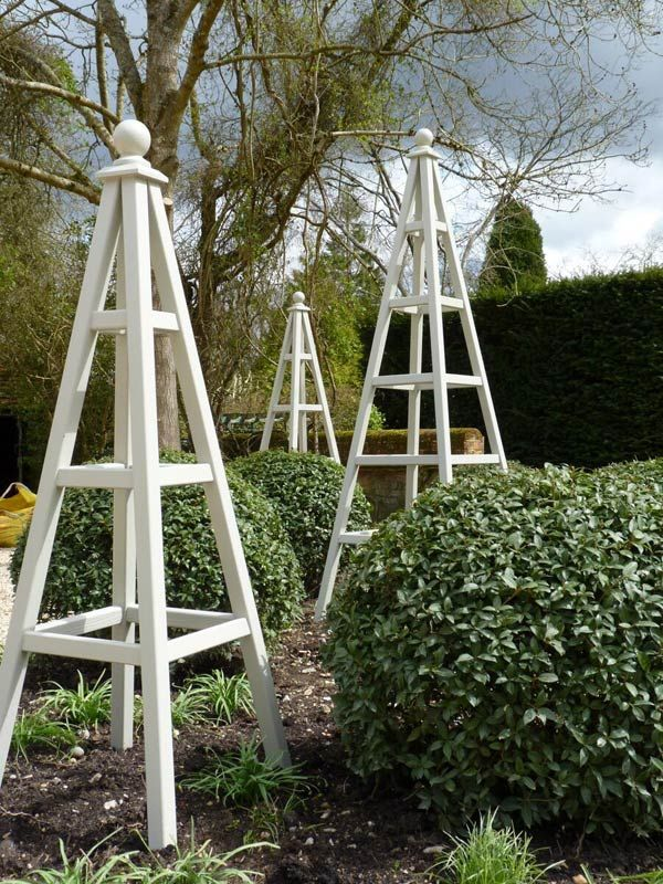 Astounding Garden Obelisks Manificent Design Wooden Obelisk Amp Painted Garden  Obelisks Gallery