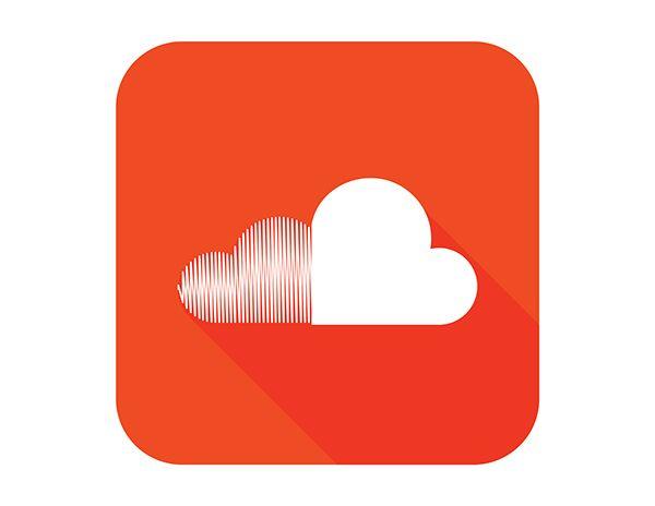 Flat Soundcloud Logo Design On Behance Soundcloud Logo Logo Design Art Logo