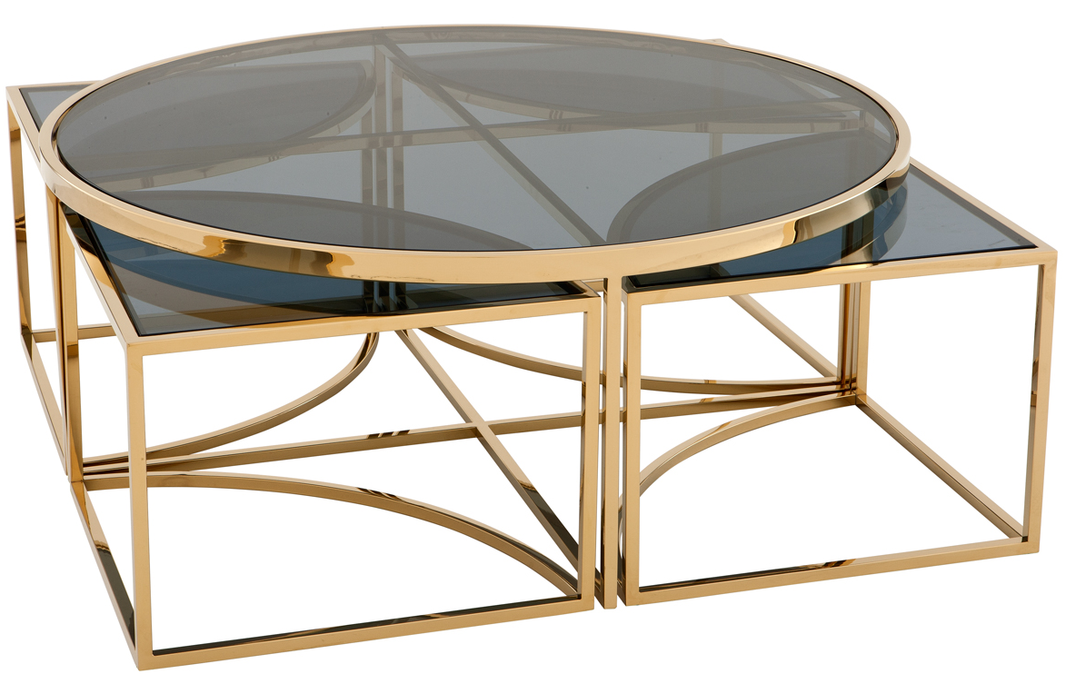 Dukenco Gold Coffee Table Gold Nesting Coffee Table Coffee Table Design [ 742 x 1173 Pixel ]