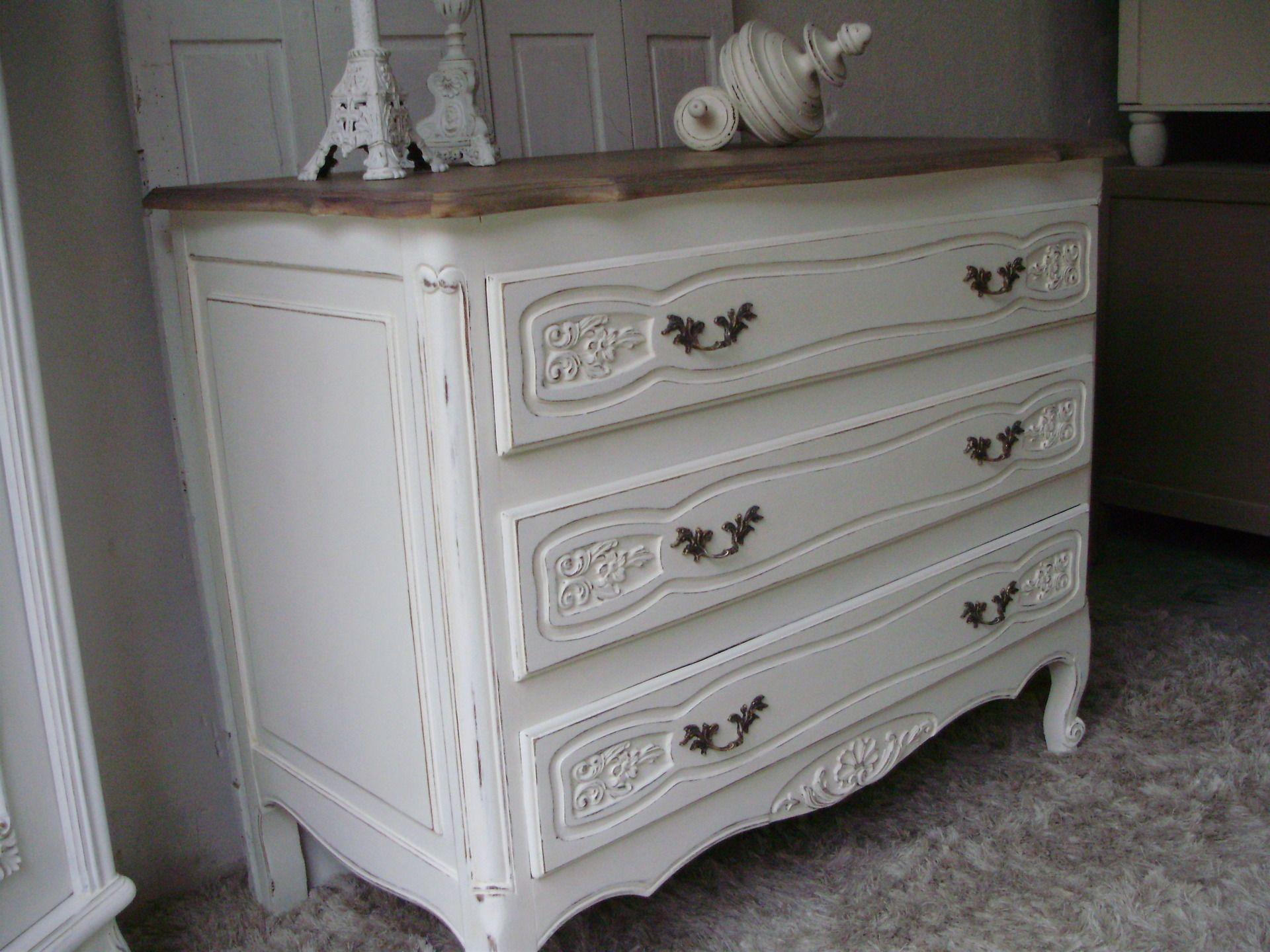 Commode bijoux commode blanche antique nouveau maison de campagne commode armoire bois