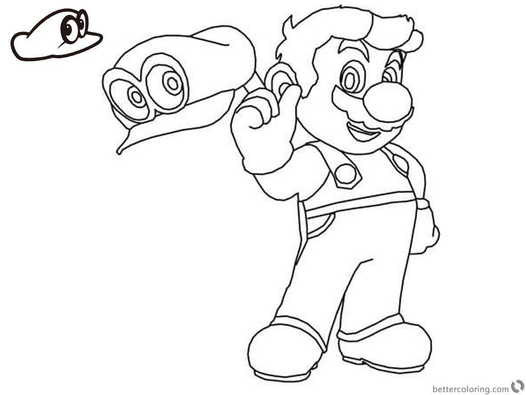 Kleurplaat Mario Odyssey In 2021 Kleurplaten Mario Brothers Mario