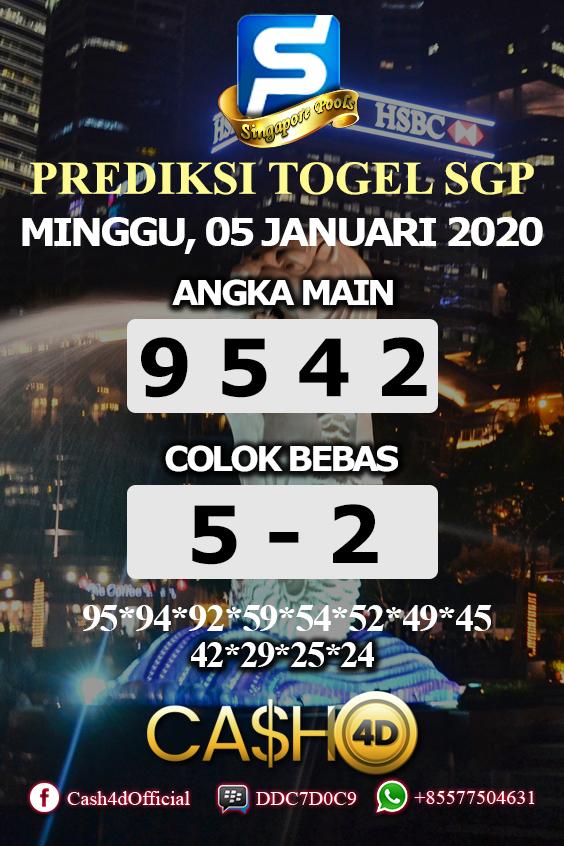 Prediksi Togel Singapura Minggu 05 Januari 2020 Singapura 10 Februari 15 Januari