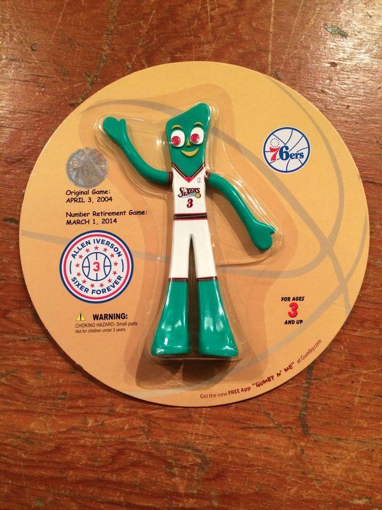 Allen Iverson Philadelphia Sixers Retirement Gumby Doll Sga