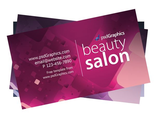 Free Beauty Salon Business Card Template By Psdgraphics Salon Business Cards Beauty Salon Business Cards Hairdresser Business Cards