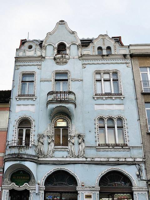 Romanian art nouveau jugendstil secession house in cluj napoca transilvania region - Romanian architectural styles ...