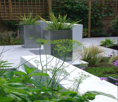 Jardines bonitos y sencillos paisajismo pinterest for Jardines bonitos y sencillos