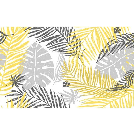 Creative Rainforest Tropical Palm Leaves Wallpaper Wall