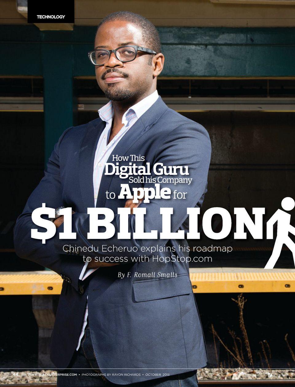 Apple inc buys nigerian born chinedu echeruos hopstop