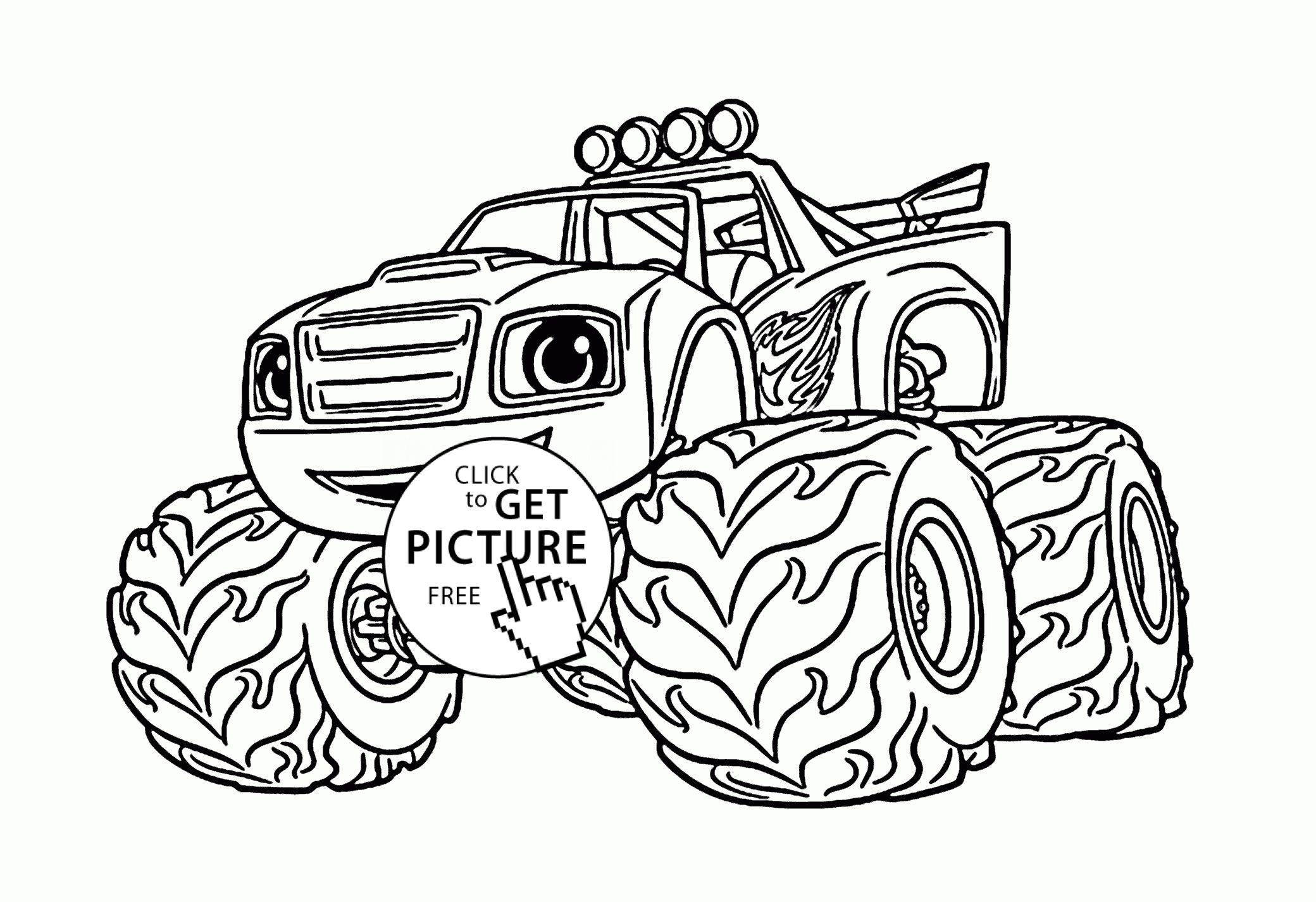 Bigfoot Coloring Pages To Print Monster Truck Coloring Pages Cartoon Coloring Pages Truck Coloring Pages