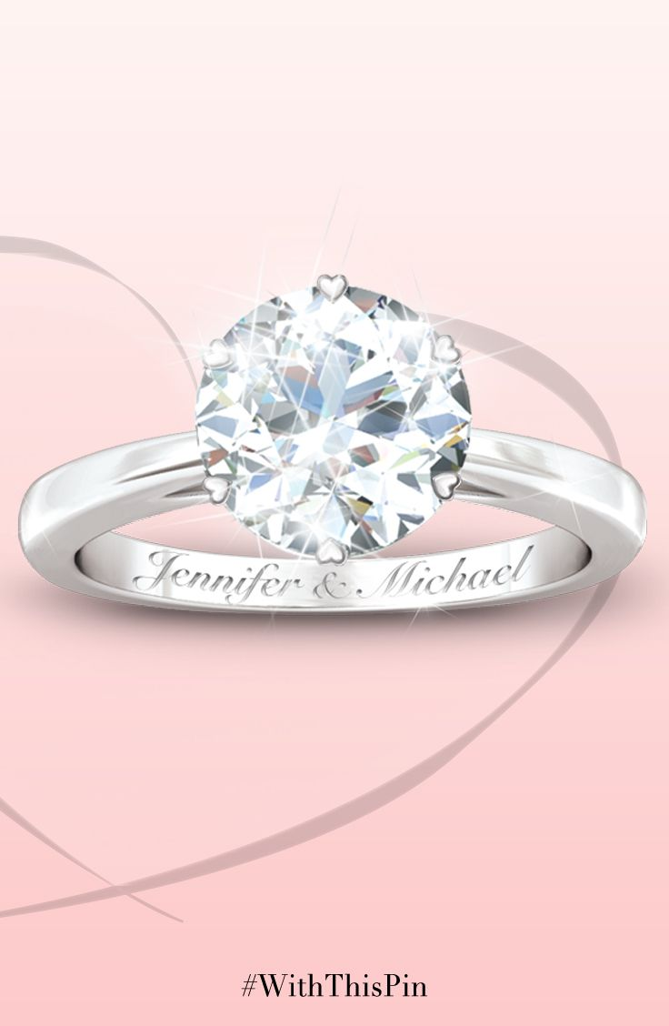 Diamonesk Personalized Bridal Ring | Bridal rings, Ring and ...