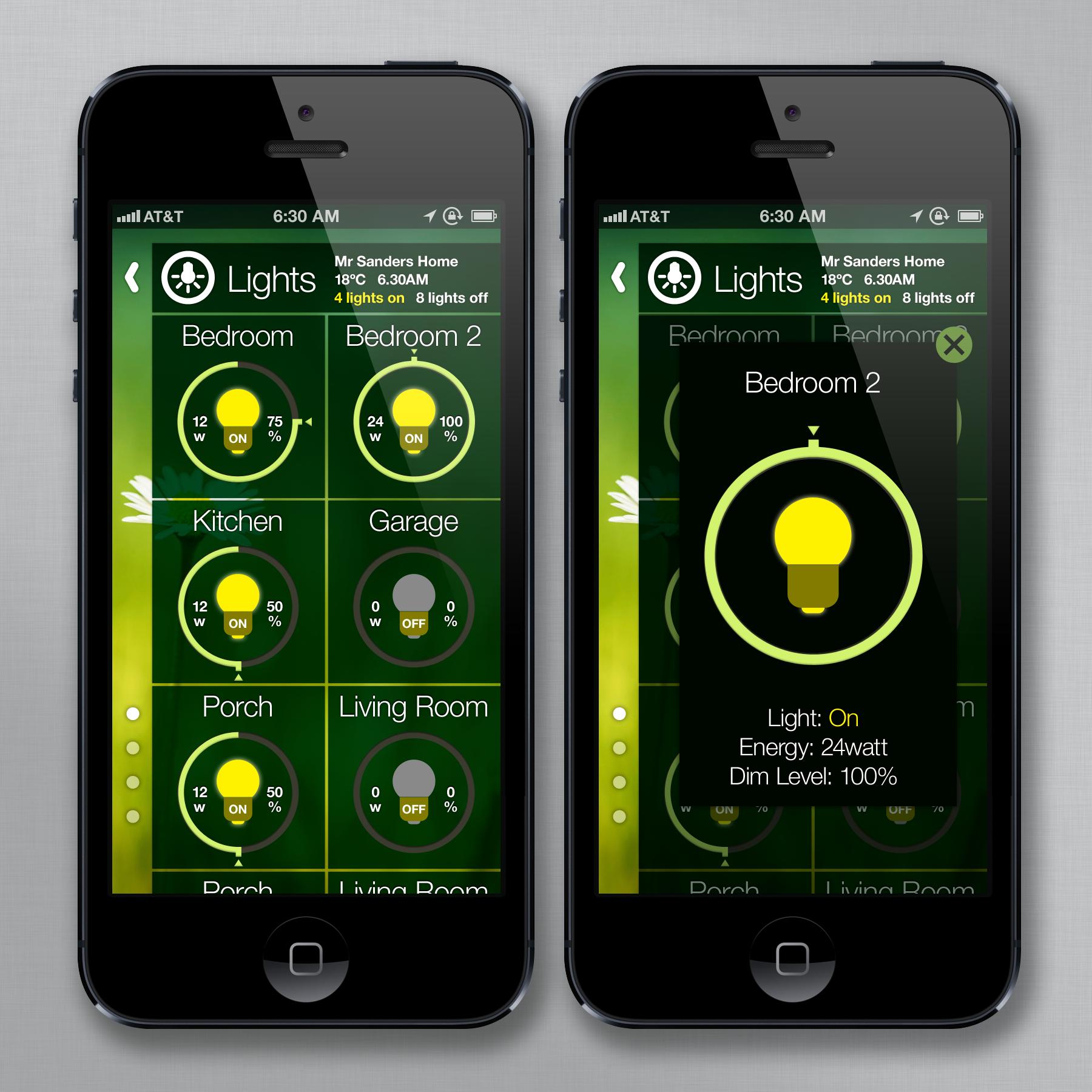 InControl Design Contest   Design Home Automation App To Control Lights  Mobile App Design #39