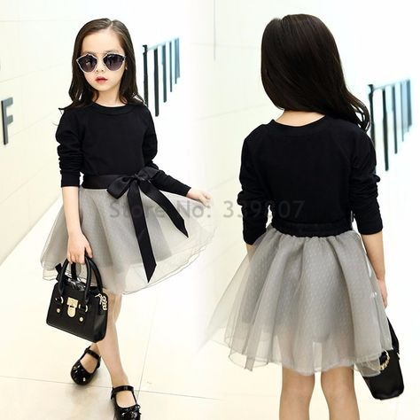 Teenage Girls Clothing Sets Tutu Skirt Set 2 pcs 2017 Spring Fall New Kids Clothes Sets for Children Long Sleeve Tshirt & Skirt is part of Clothes Style For Girls - piece                  SIZE CHART