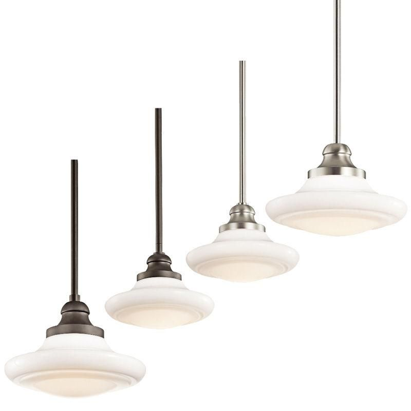 Keller Small Medium Duo Mount Pendant Light E27 In Brushed Nickel And Old Bronze Elstead Lighting Els Kl Keller Lamp Bases Brushed Nickel Bronze