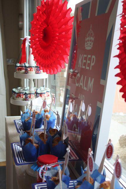Very british ... Partyidea by www.das-kleine-weisse-haus.blogspot.de und www.casa-di-falcone.de