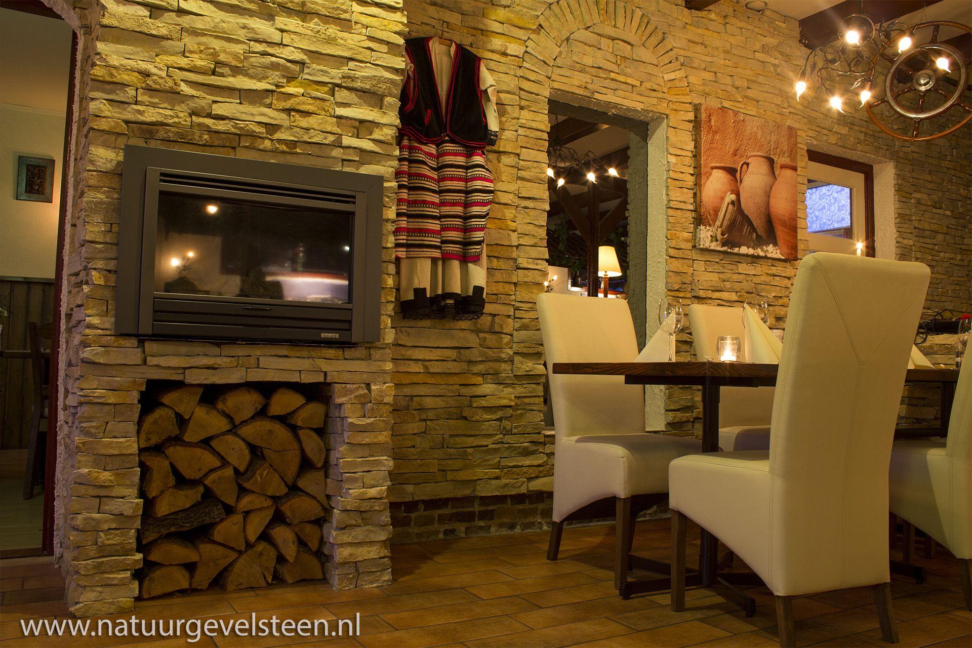 Natuursteen strips   Natuursteen Wandbekleding   Interieur   Balkan Restaurant Ohrid   Natuurgevelsteen