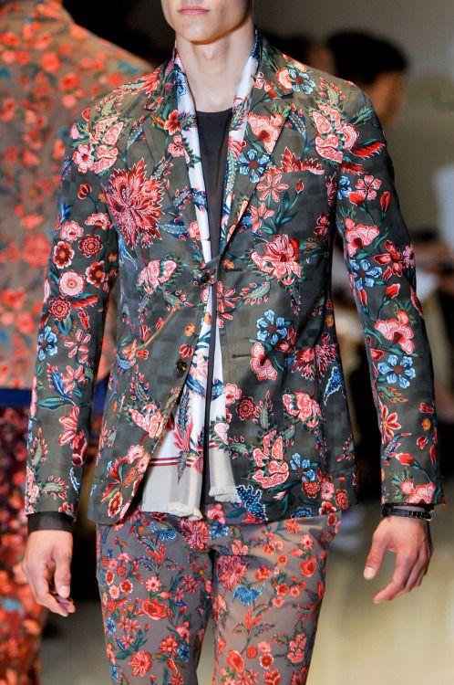 "monsieurcouture: "" monsieurcouture: "" Gucci S/S 2014 Menswear Milan Fashion Week "" MONSIEURCOUTURE """
