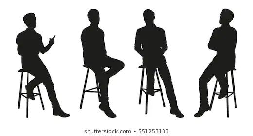 People Silhouette Sitting Bar Stool Google Search Silhouette Human Silhouette Bar Stools