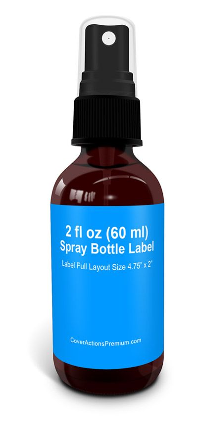 2 Oz Round Glass Bottle With Spray Mock Up Cover Actions Premium Mockup Psd Template Bottle Label Template Label Templates Bottle Labels