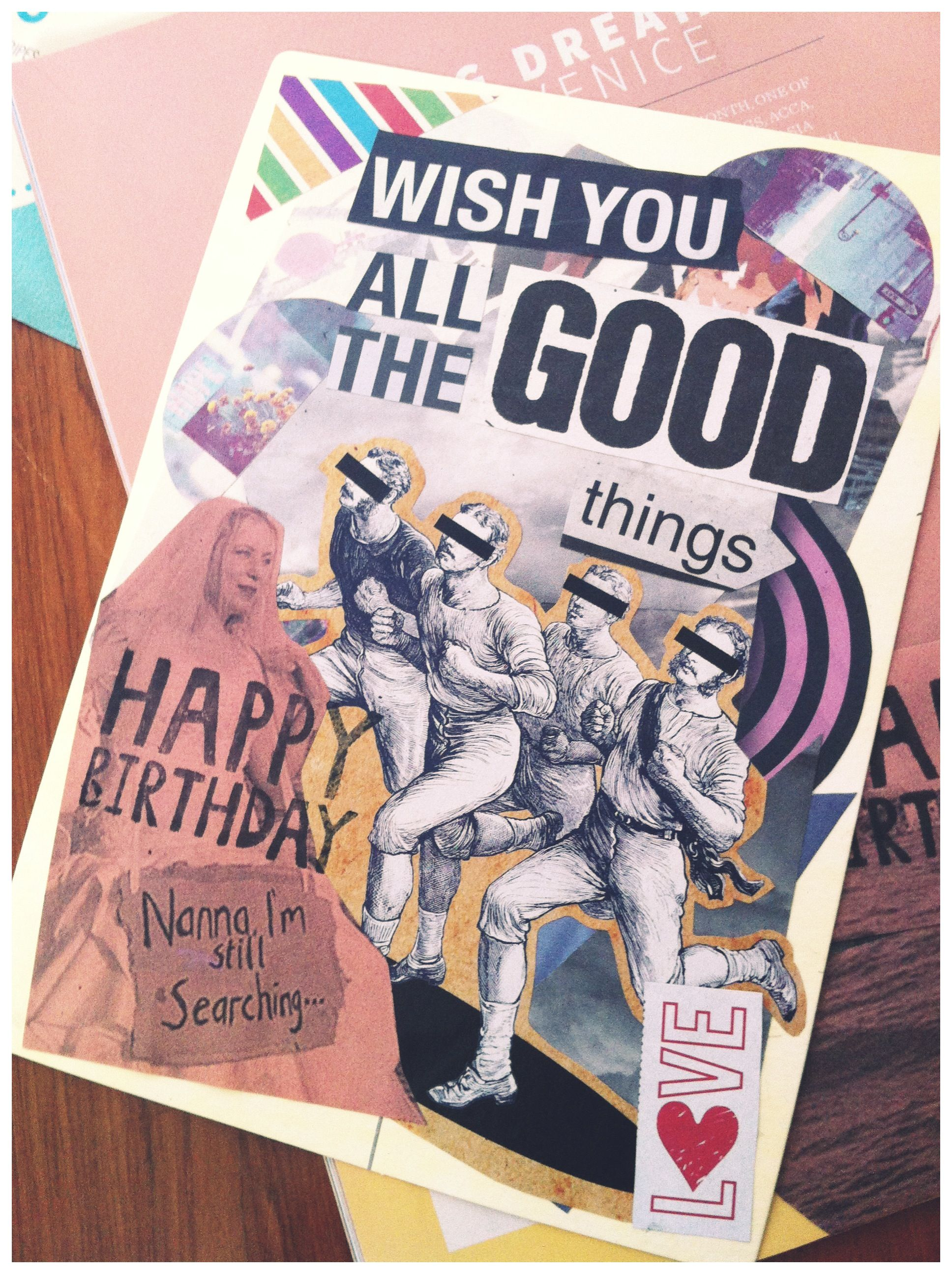 Diy birthday card collage diy pinterest diy birthday diy birthday card collage bookmarktalkfo Image collections