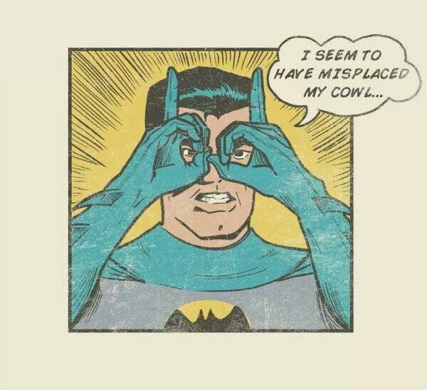 Batman loses cowl