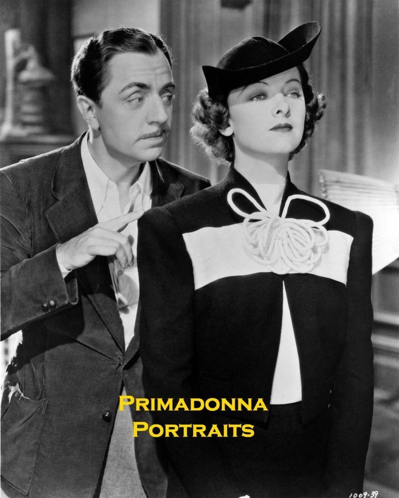MYRNA LOY & WILLIAM POWELL 8X10 Lab Photo Thin Man Film Series 1930 s COUPLE