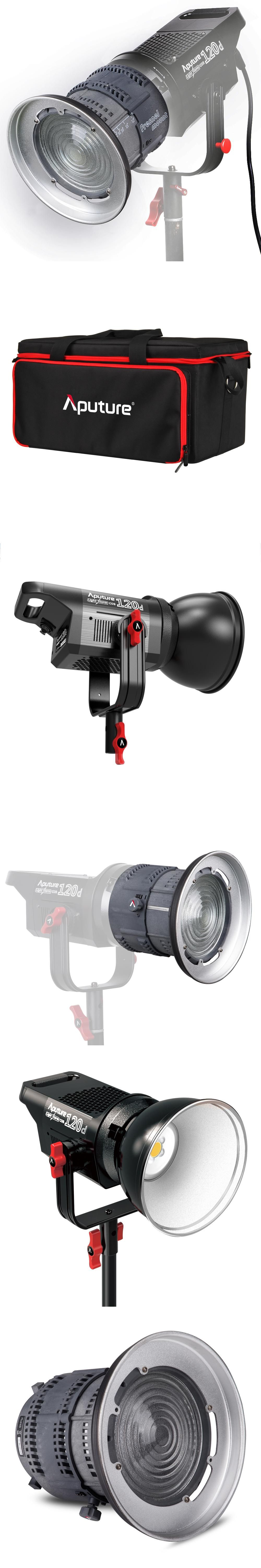 aputure ls mount fresnel kit to light v video led pin lighting