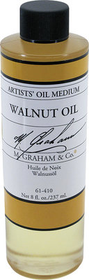 I use M Graham Walnut Oil to clean my brushes during a