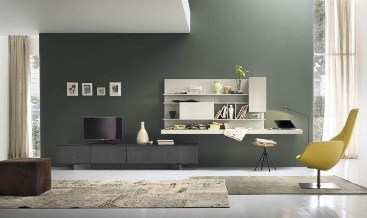Wohnwand Idee In Schwarz-Weiß