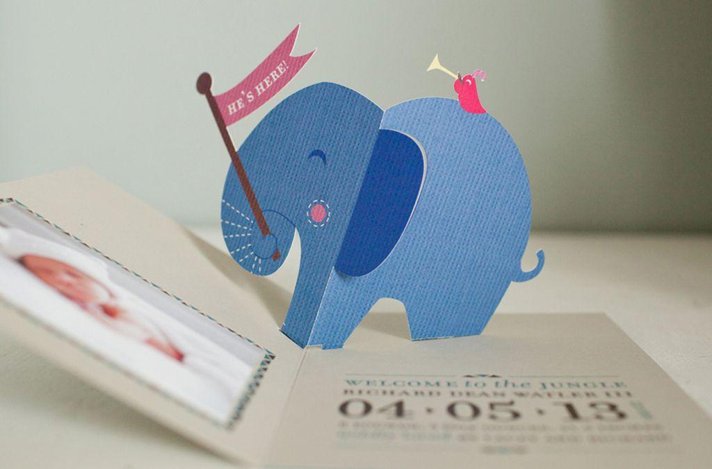 Atheneum Creative Pop Up Invitation Baby Boy Cards Pop Up