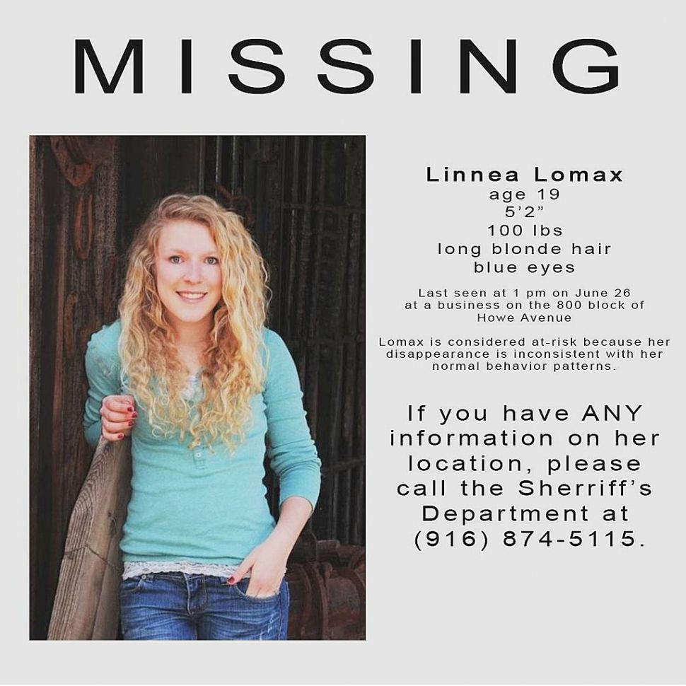 missing people Missing Person Alert Linnea Lomax – Missing Person Picture