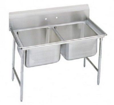 Evoo Edd2016 2 Stainless Steel 47 Deep Drawn Sink Two Compartment Advance Tabco Sink Stainless Steel Kitchen Sink
