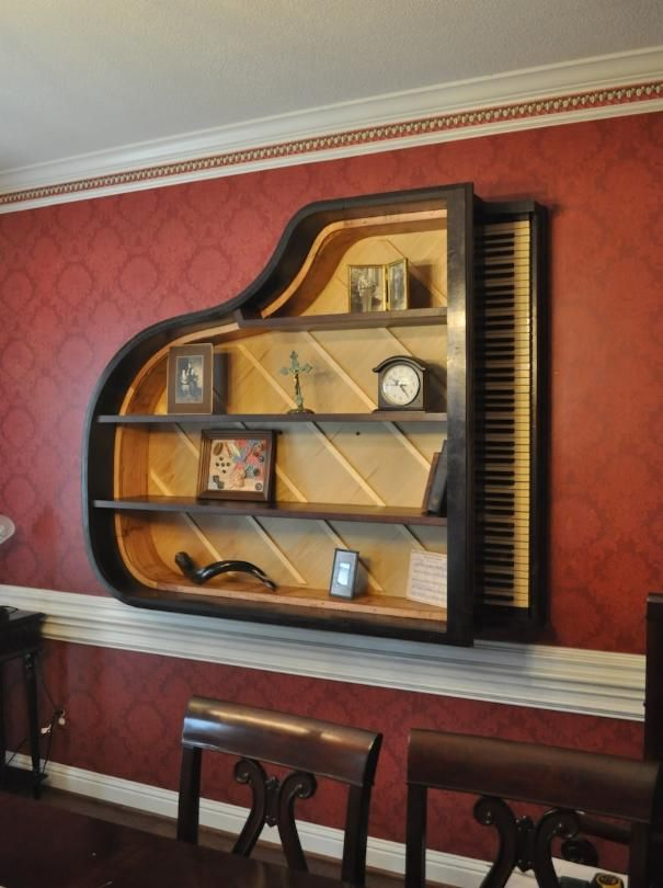 The Vintage Vose Amp Son S Baby Grand Piano Bookshelf Http Pinterest Com Cameronpiano Piano