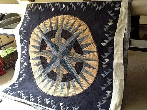 Baseball Quilt Nautical Quilt Mariners Compass Star