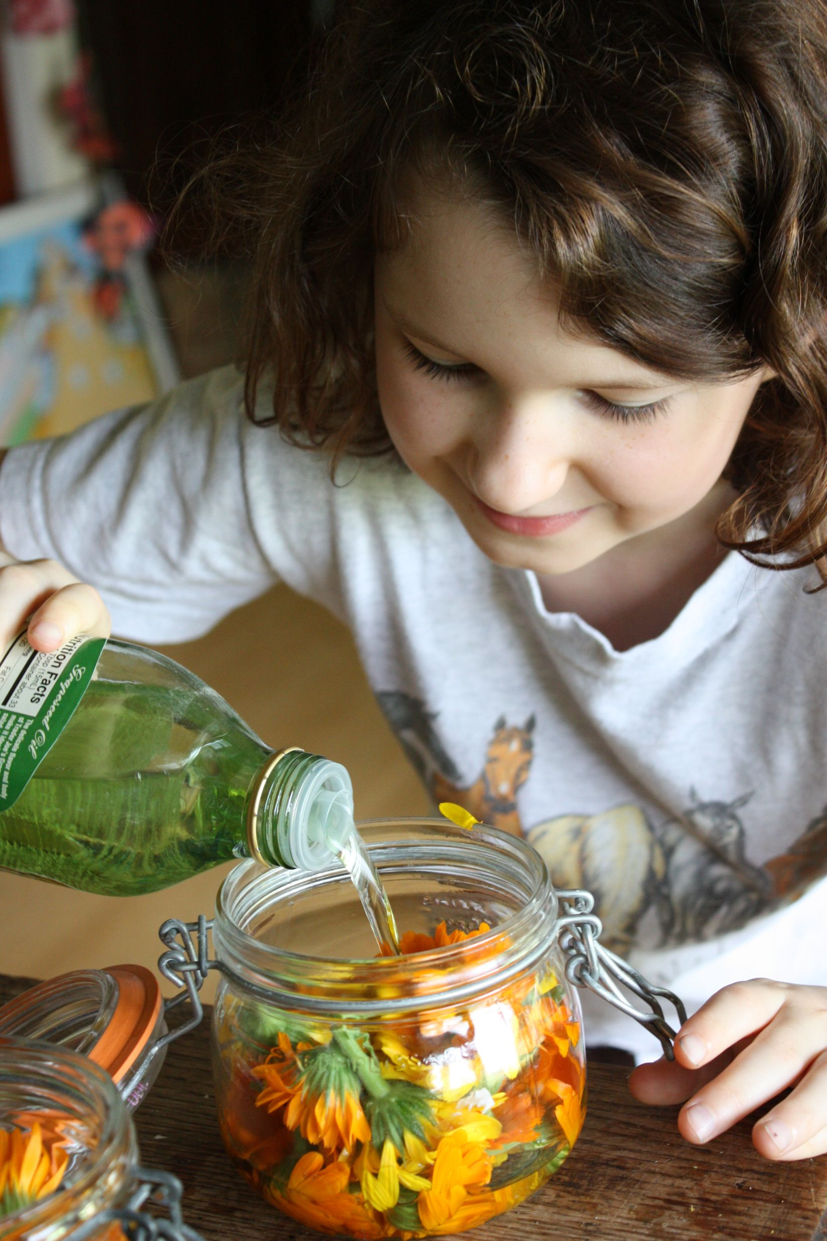 Calendula Oil, homemade