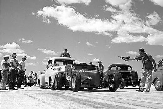 Visit the Bonneville Salts Flats during speed week.