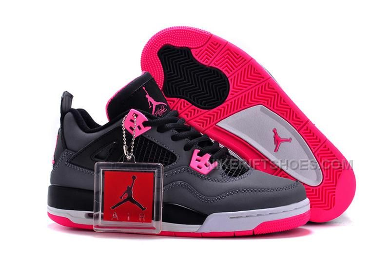 3b8af40a7227 Buy 2017 Air Jordan 4 GS Black Grey Hyper Pink Christmas Deals from  Reliable 2017 Air Jordan 4 GS Black Grey Hyper Pink Christmas Deals  suppliers.