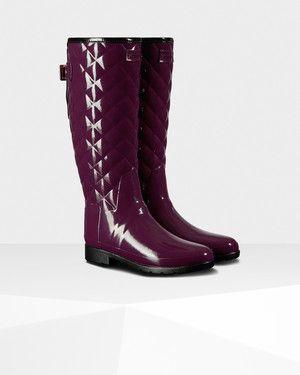 d7bd0f2c0ff Women s Original Refined Quilted Gloss Rain Boots