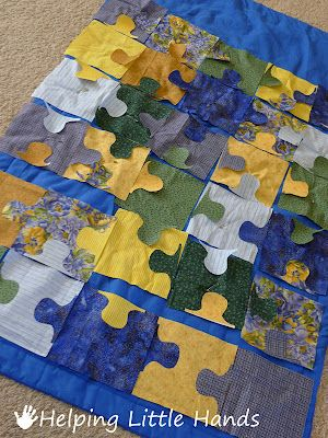 Helping Little Hands Jigsaw Puzzle Baby Quilt Free