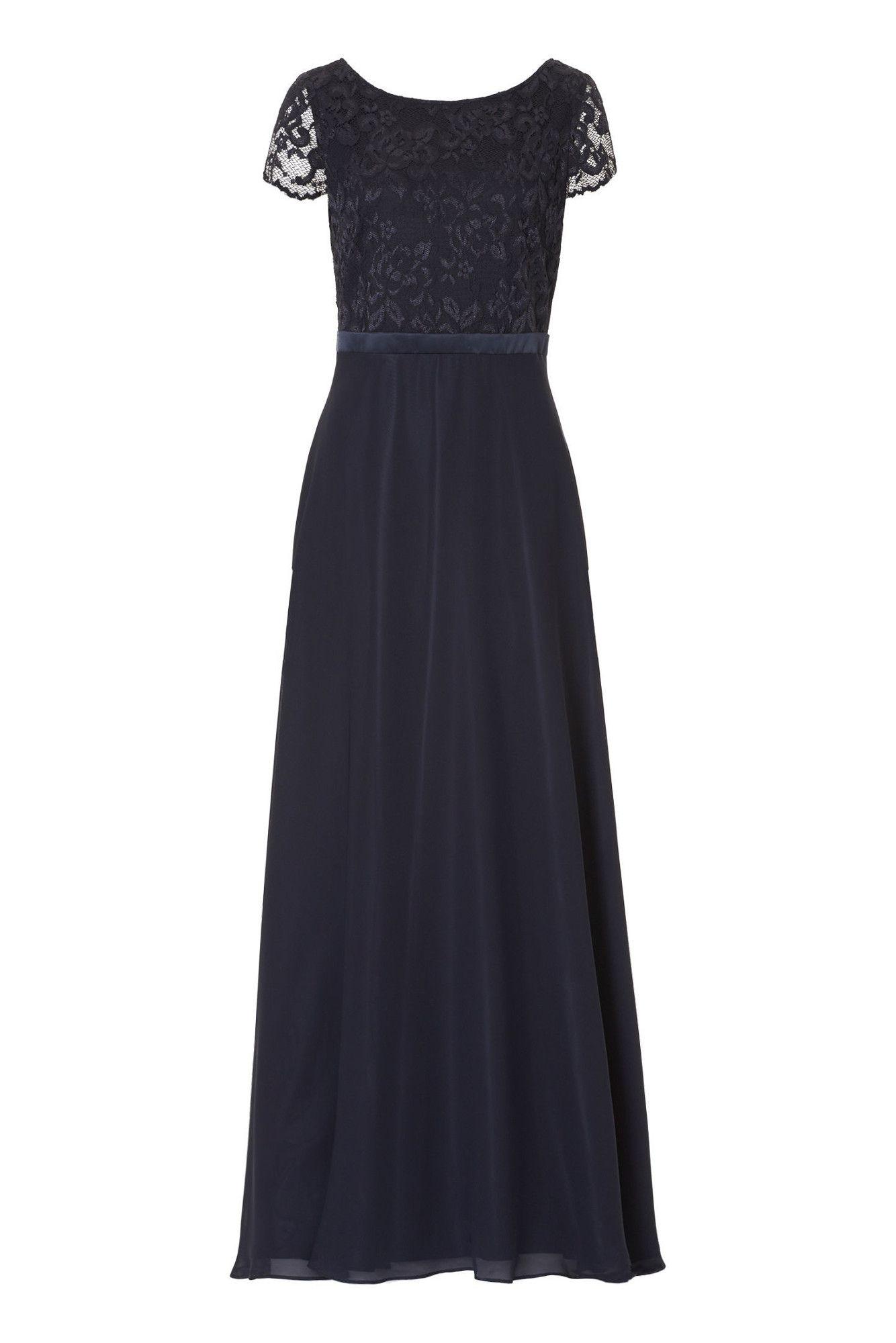 Abendkleid mit weicher Spitze Langes Kleid von Vera Mont
