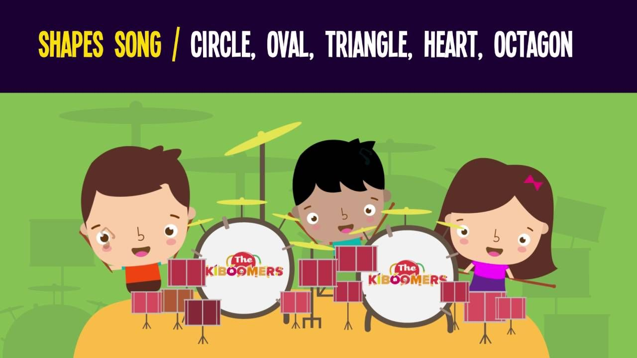 Shapes Song for Preschool | Circle Oval Triangle Heart Octagon ...