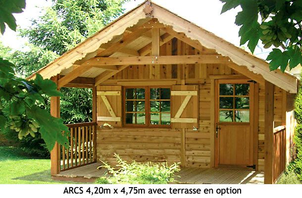 Chalet en bois pour jardin peut servir de bureau ou de chambre d